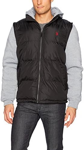 U.S. Polo Assn. Men's Puffer Jacket with Poly Lining