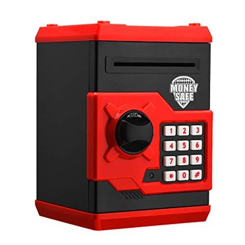 Electronic Piggy Bank ATM Password Money Box Cash Monedas Saving Box ATM Bank Automático Caja Fuerte Billete de depósito para niños Niño (Color : Red Black)