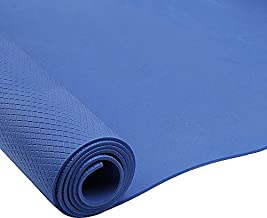 Body Sculpture Solex Yoga/Exercise Mat With Strap, Blue [SOLX-BB-8310E-S]