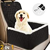 Car Front Seat Covers for Dogs, TOPBRY Deluxe 2 in 1 Scratchproof Thickened