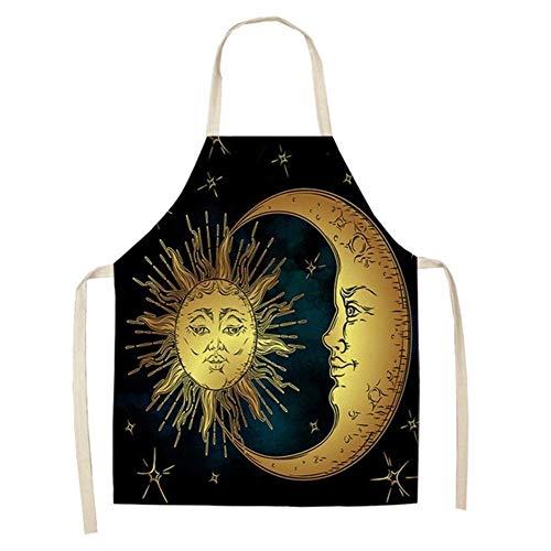 Delantal Estampado- 1pcs Ramadán Lençóis De Algodão Padrão de Cozinha Aventais for Mulher E Homem Inicio cocinan la Limpeza Loja De acessório 53 * 65cm (Cor : 8)