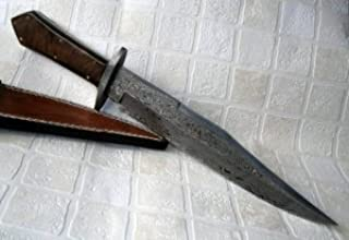 Reg 65 – Handmade Damascus Steel 15.00 inches Bowie Knife - Colors/case may vary