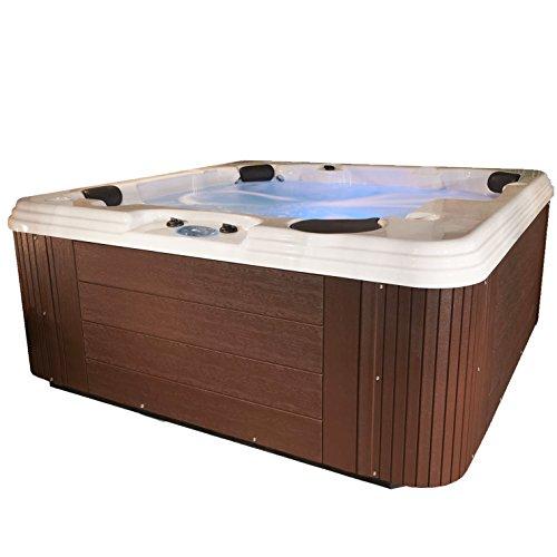 Essential Hot Tubs 50-Jet Polara Hot Tub, Seats 5-6, Espresso