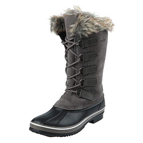 Northside Women's Kathmandu Snow Boot, warm gray, 8 Medium US