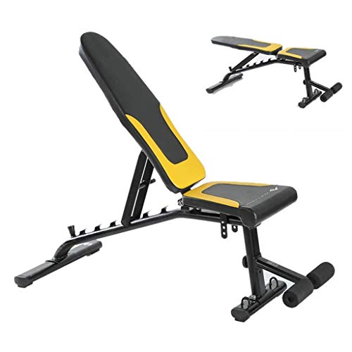 Baibao Multifunktionale Gewichtheben Bett Haushalt Hantel Hocker Verstellbare Sit-ups Fitness Equipment Bauchmuskeln Partie 6-Level Adjustment Can Bär 300kg (Color : Black, Size : 130x60x125cm)