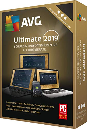 AVG Ultimate 2019 unbegrenzt / 1 Jahr|2019|Unbegrenzt / 1 Jahr|12 Monate|PC, Laptop, Tablet, Handy|Download|Download