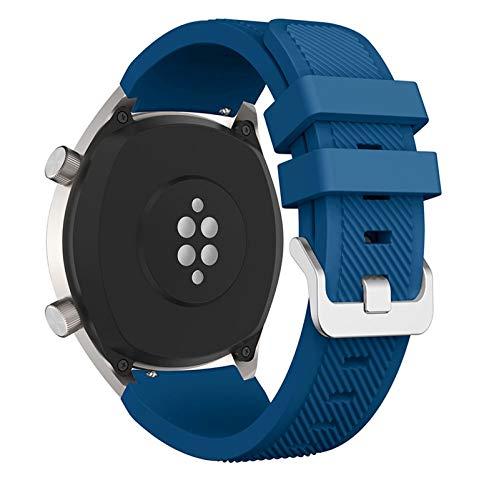 MSFDOG 2021 Nueva Banda de Reloj de Silicona de 22 mm para Huawei para Honor Magic Watch 2 Sport Reemplazo de Relojes de Relojes para Huami Ambashit Stratos 3 Correa