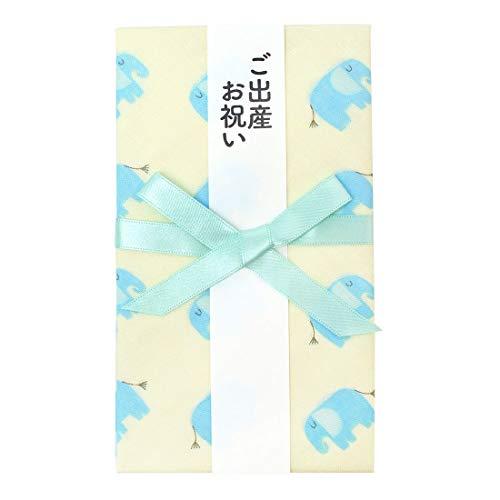 ご祝儀袋 ハンカチ 出産祝い お祝い 短冊 中袋付き かわいい コットン 綿100% 日本製 ベビー アニマル 動物 おしゃれ made in japan
