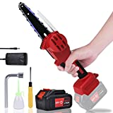 6-Inch 3000mAh Mini Cordless Chainsaw with Brushless Motor (1 X Rechargeable Battery and 1 X Charger Included), Handheld Electric Chainsaw/Portable Lightweight Chain saw for Tree Branch Wood Cutting