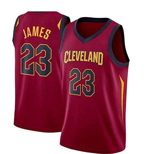 BXWA-Sports Jersey di Pallacanestro NBA Cleveland Cavaliers # 23 Lebron James Magliette Sportive da Città Resistenti all'Usura e Uniformi da Basket,XL(185cm/85~95kg)