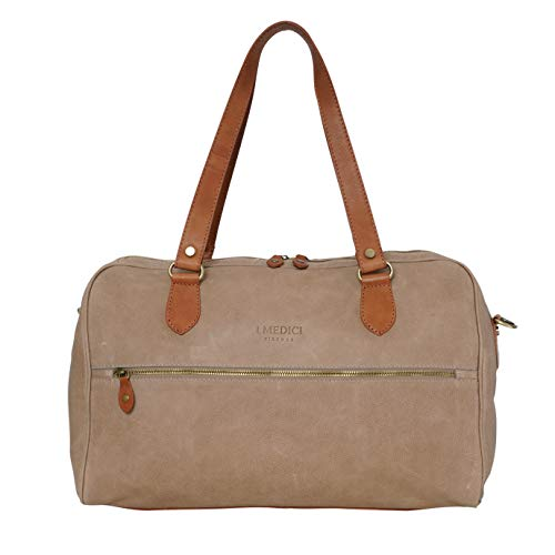 I Medici Firenze, borsone viaggio, borsone weekender in pelle, duffle bag, Made in Tuscany - Italy, 409 DL (NOCE)