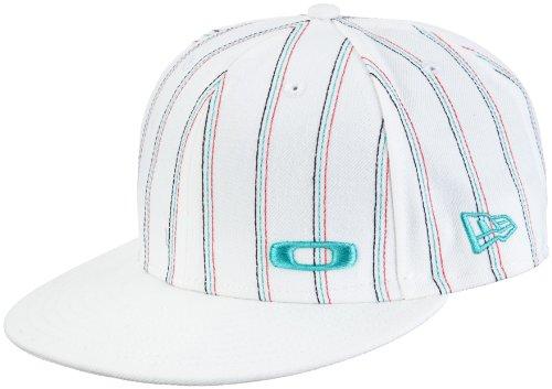 Oakley Herren Cap Pinstripe New Era, white, S (7 1/8),  91765-100