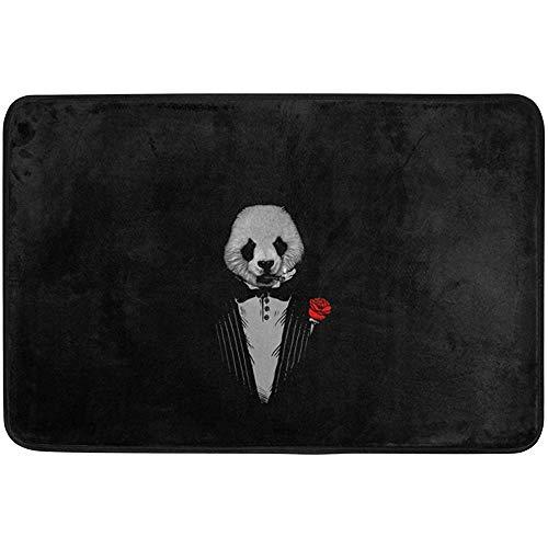 SFSGH Alfombrilla Antideslizante para Puerta, decoración del hogar, 23,6x15,7 pulgadas/40x60 cm, Panda como el Padrino, alfombras para Exteriores, alfombras de Entrada, Alfombrilla para