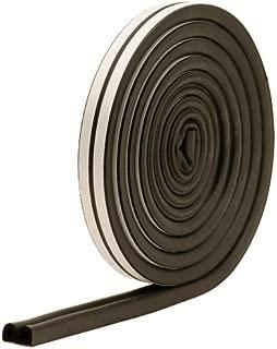 M-D Building Products 1025 M-D 0 D-Profile Weather-Strip Tape, 17 Ft L X 23/64 in W 5/16 in T, Epdm Rubber, Black