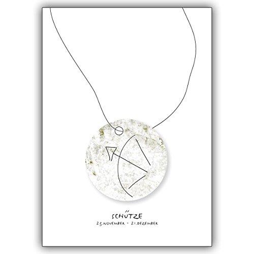 Wenskaarten met inkoopkorting: Horoscoop wenskaart voor iedereen die in het sterrenbeeld van de schutters geboren zijn • mooie hoogwaardige wenskaart met envelop voor u gemaakt 10 Grußkarten