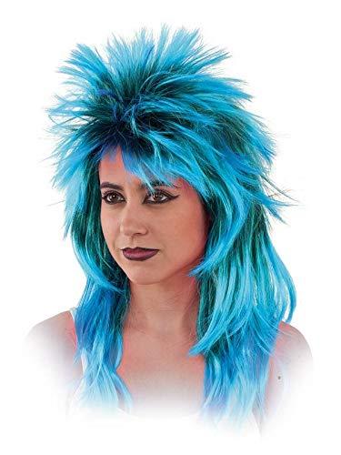 DISBACANAL Peluca Punky Mujer - Azul, Unica