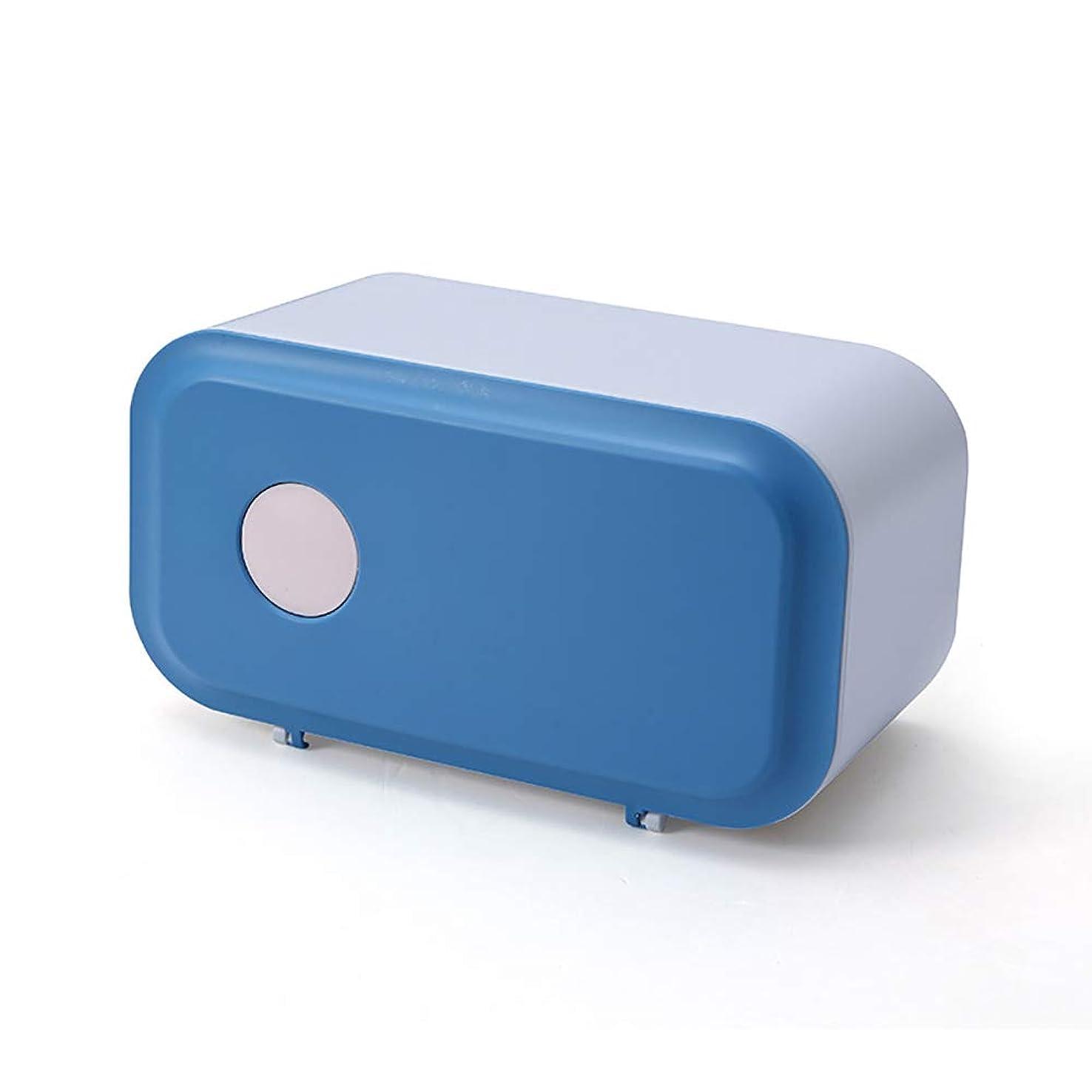 プレゼンター蛾扇動する1本 ティッシュボックス ブルー ホーム に適し 軽量 安定 大容量 多機能 デコレーション 卓上 収納 便利