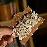 Mattierte Perlenkette Perlenband Perlengirlande Perlenschnur Weihnachten Advent Hochzeit Deko Tischdeko - 2