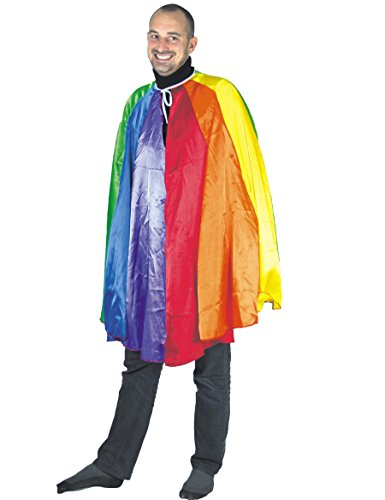 Party Pro 865785 T-shirt Super Heroine Over The Rainbow Cape, Multi Kleur