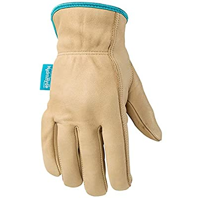Wells Lamont Women's Water-Resistant Cowhide Leather Work Gloves with HydraHyde Technology