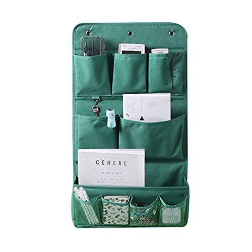 Bolsa de almacenamiento de tela para colgar, bolsa de almacenamiento de pared, bolsa de almacenamiento de tela para colgar, bolsa de almacenamiento para ropa de baño (verde)