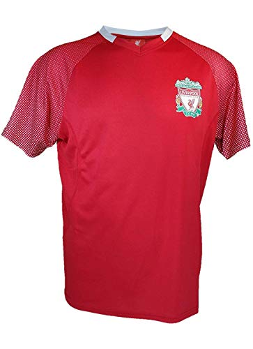Liverpool F.C. Soccer Official Adult Soccer Training Performance Poly Jersey -J006 X-Large Black