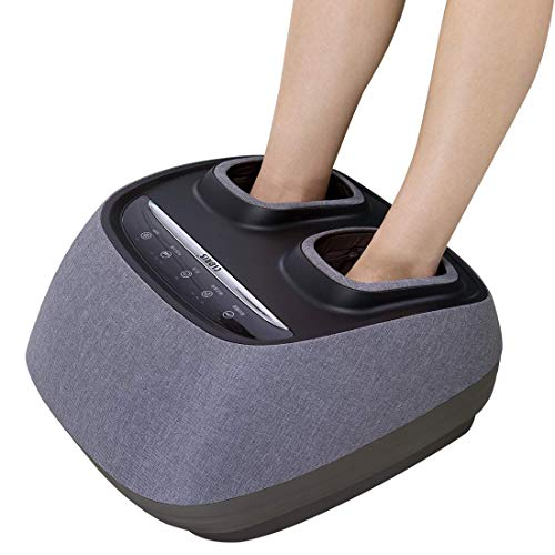 Buy POEO Full Foot Massager Machine, Electric Deep Kneading Massage with Vibration Heat & Air Compre...