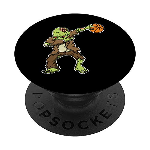 Dabbing Zombie Basketball Funny Halloween Costume PopSockets Grip and Stand for Phones and Tablets Delaware
