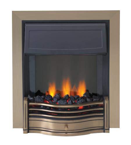 Dimplex Danesbury Optiflame Antique Brass Inset Electric Fire