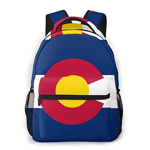 Mochilas para niños con la bandera de Colorado, impermeables, para portátil, mochila de viaje para niños y niñas