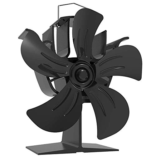 Chimenea Quemador De Leña Respetuoso Con El Medio Ambiente Seguro Ventilador De Estufa De Aire Caliente De Cinco Hojas Funcionamiento Silencioso Portátil Negro Hombre Y Mujer Viejo Joven Dispo