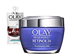 OVERNIGHT MOISTURIZING MAGIC: Indulge your skin with our hydrating nighttime facial moisturizer featuring Olay's Vitamin B3 + Retinol Complex to work wonders while you sleep SKIN QUENCHING MOISTURE: Our rich, ultra-hydrating formula absorbs quickly t...