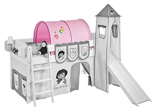 Tunnel pour lit mezzanine Lit superposé Dora Lilo Kids The Explorer Rose