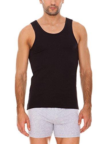 ABANDERADO - Camiseta Algodón Maxima Transpiración De Tirantes para hombre, color negro, talla 60/2XL