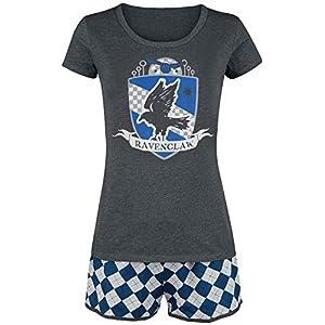 HARRY POTTER Ravenclaw Quidditch Mujer Pijama Gris/Azul, , elastischer Bund, Tunnelzug 25