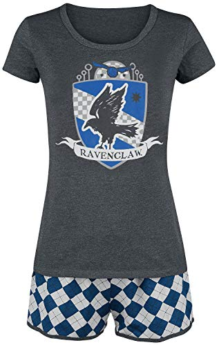 HARRY POTTER Ravenclaw Quidditch Mujer Pijama Gris/Azul L