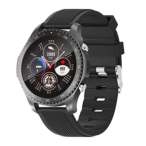 BNMY Smartwatch Reloj Inteligente con Pulsómetro Cronómetros Calorías Monitor De Sueño Podómetro Monitores De Actividad Impermeable IP67 Smartwatch Hombre Reloj Deportivo para Android iOS,Negro