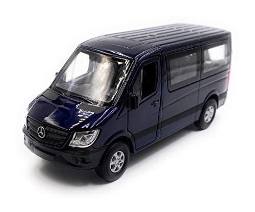 Onlineworld2013 Mercedes Benz Sprinter Window Blu Model Car Scale 1:34 (con Licenza)