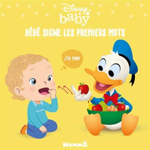 Disney Baby - Langue des signes - Bébé signe les premiers mots - Livre cartonné pour apprendre à signer - Bébés dès 6 mois