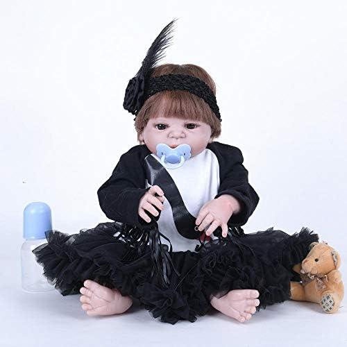 Hongge Silikon-Vinyl regeneriert Baby Puppe realistische mädchen Baby Puppe Zoll 5cm realistisch Prinzessin Kinder Spielzeug für Kinder B Irthday Geschenk
