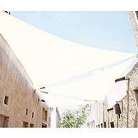 SUNNY GUARD日除けシェードセイル三角 UVカットオーニング 3*3*3m アイボリー【3年間の安心保証】