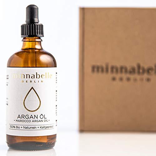 BIO Arganöl 100ml für Haare, Haut & Gesicht, Argan Oil, Argan Öl 100{05e618548b56399c4cdc8d4781967a3887cc133006ff5bb6e38ac0774538960c} rein & kaltgepresst original aus Marokko, Anti-Falten Anti-Aging Serum, nur frische Argannüsse aus zertifiziert biologischem Anbau