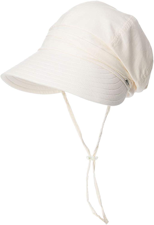 CQ Hat Female Summer Visor Sunscreen Outdoor UV Predection Face Out Travel Folding Sun Hat (color   Beige)