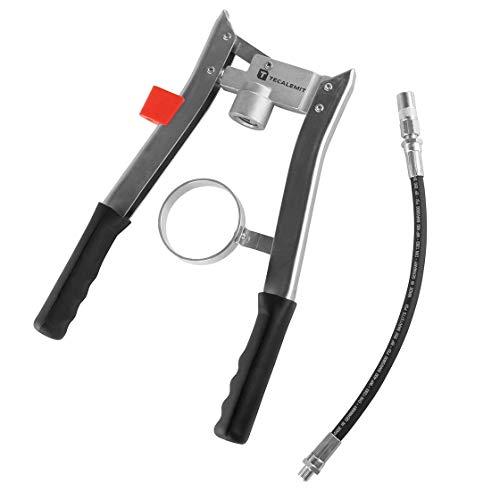 Hochdruck-Zweihandpresse ECO | mit Hochdruckschlauch & Greifkupplung | Originalnr.: 011681051 | Fettpresse | Handhebelfettpresse | Handfettpresse | Handhebelpresse | TECALEMIT