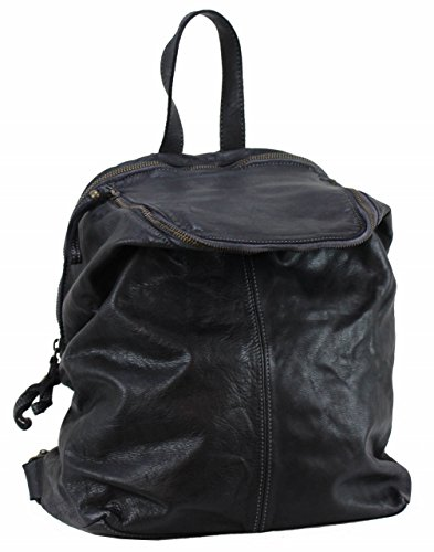 BZNA Bag Richie nero Backpacker Designer Rucksack Damenhandtasche Schultertasche Leder Nappa sheep ItalyNeu