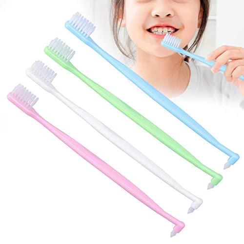 Brosse à dents Sulcus à poils souples 4 couleurs, brosse à dents orthodontique (lot de 4) brosse à dents à double extrémité brosse à dents pour le camping de voyage