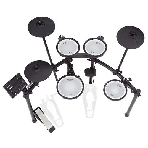 Kit de V-Drums electrónico Roland TD-07DMK – Mítico kit de parche de malla de doble capa con expresión y ejecución superiores – Audio y MIDI Bluetooth – USB para grabar audio y datos MIDI