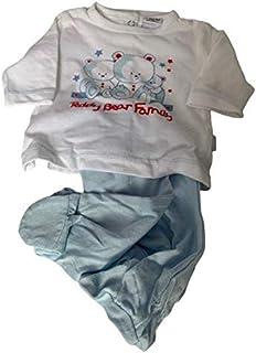 Yatsi 16109020- Conjunto dos piezas para tu Bebé. Recién Nacido. Color: Celeste. Tallas 0 mes