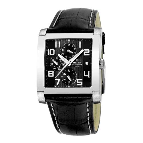FESTINA F16235/F - Reloj de Caballero de Cuarzo, Correa de Piel Color Negro