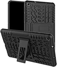 Yhuisen Dual Layer Hybrid Armor Kickstand 2 in 1 Shockproof Tablet Cover for Samsung Galaxy Tab A 8.0 inch 2019 Model SM-P200/SM-P205 (Color : Black)